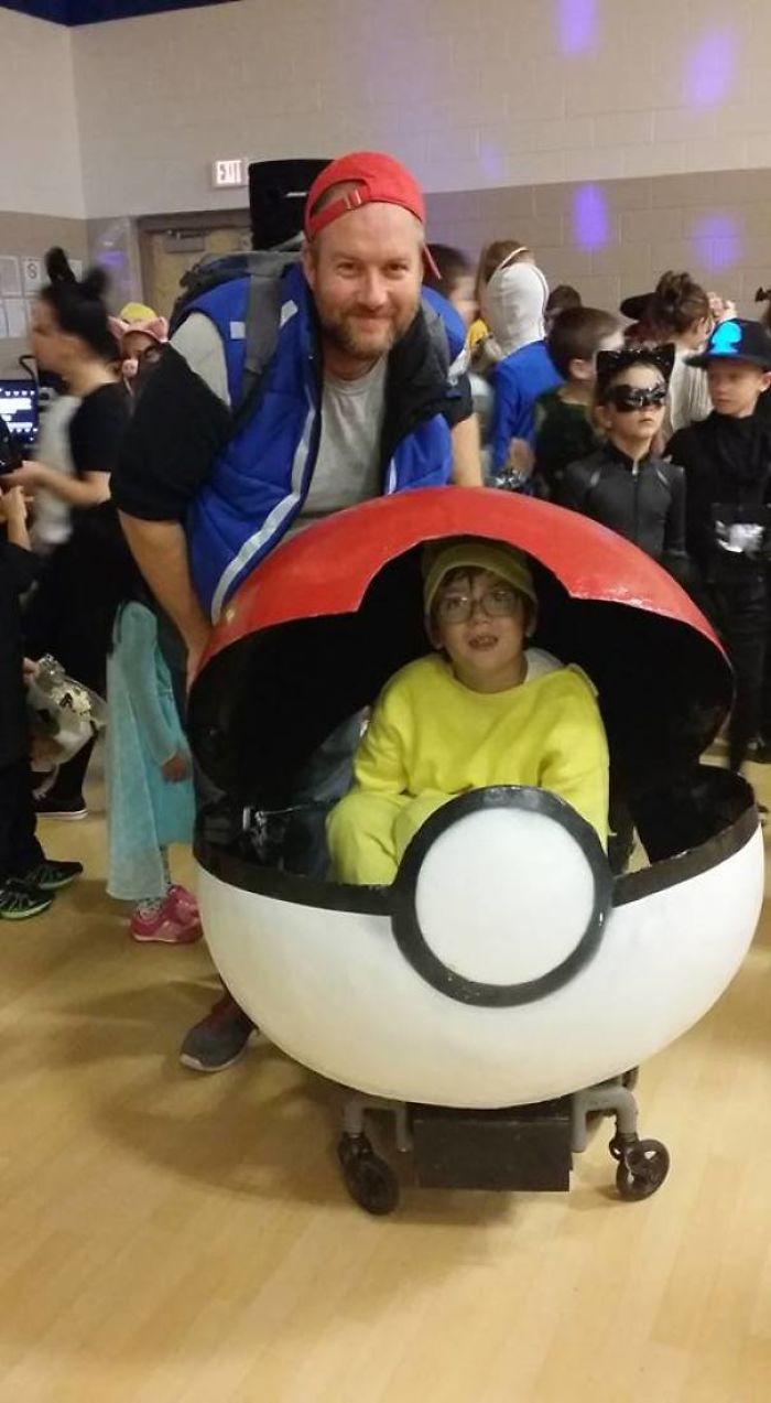 Made My Son A Pikachu Costume For His Wheelchair