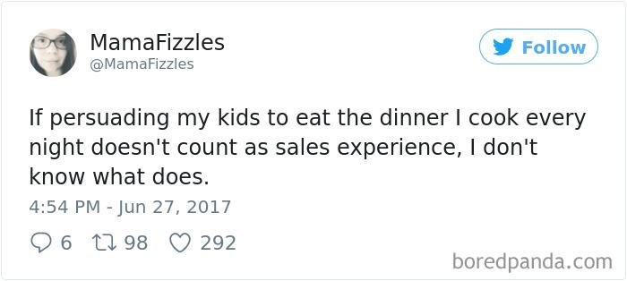 Parenting Food Tweet