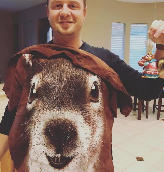So, I Saved A Dying Baby Squirrel Once, And Now My Mother-In-Law Thinks I'm The Squirrel Whisperer. She Hooked Me Up With Some Hot Squirrel Swag
