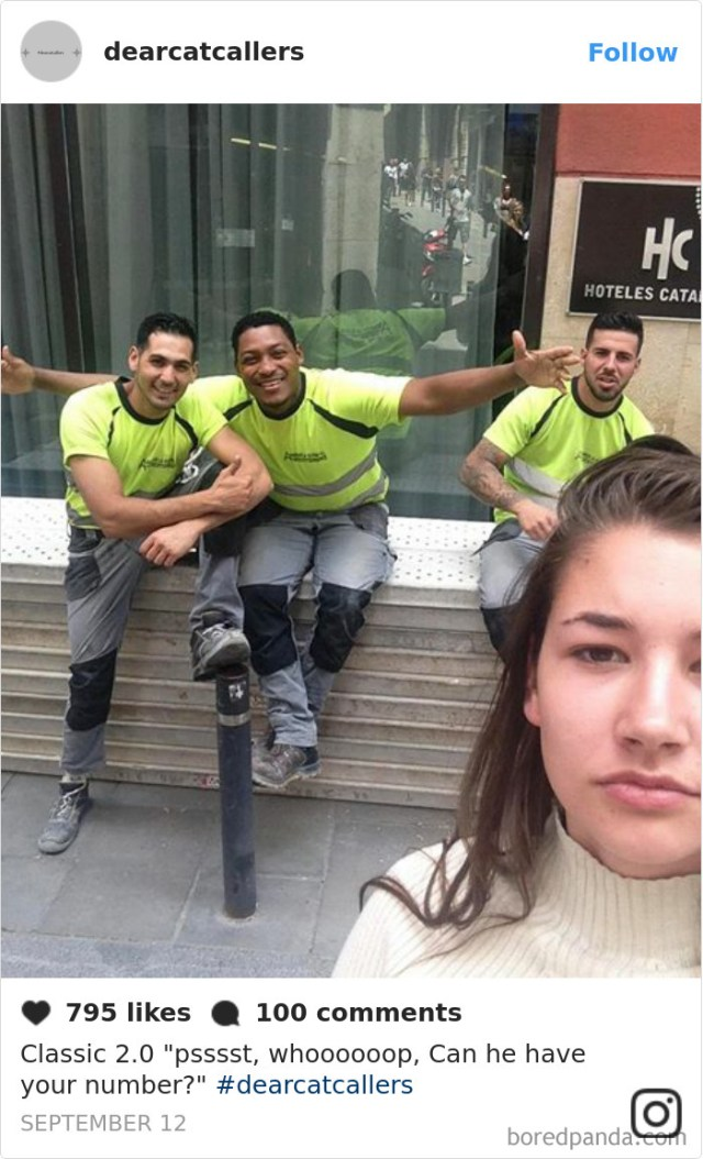 Tired Of Getting Catcalled, This Woman Started Taking Selfies With The Catcallers, And The Results Are Pretty Disturbing