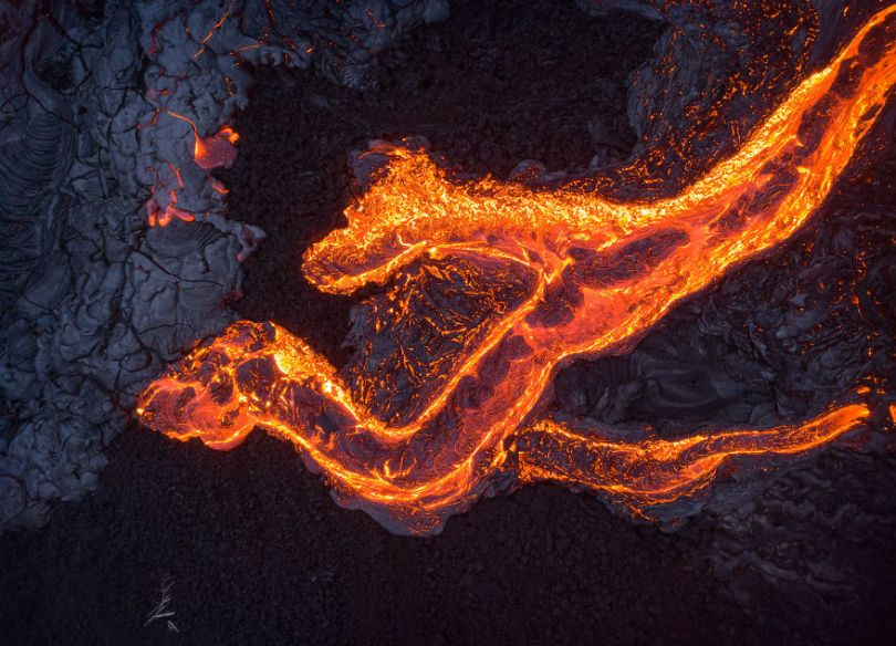 I melted my drone camera flying to close to the lava flows of mount Kilauea Hawaii 59f8c87a7b6ed  880 - Fotógrafo chega muito perto de lava com o seu Drone
