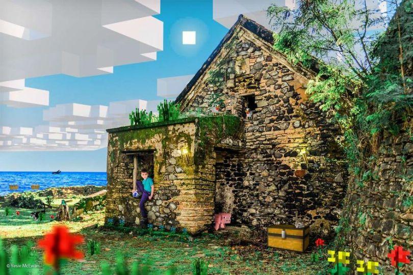 Yesie McEwan 88 59d91aa810a64  880 - Pai cria Minecraft Photo Series com os filhos