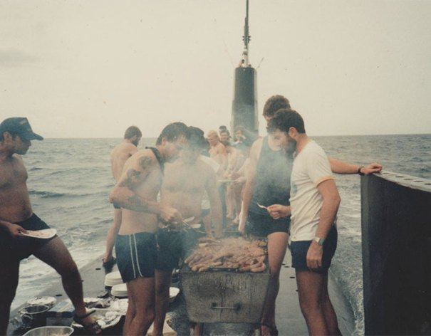 I Found A Photo Of My Dad Cooking A Barbecue On Top Of A Moving Submarine