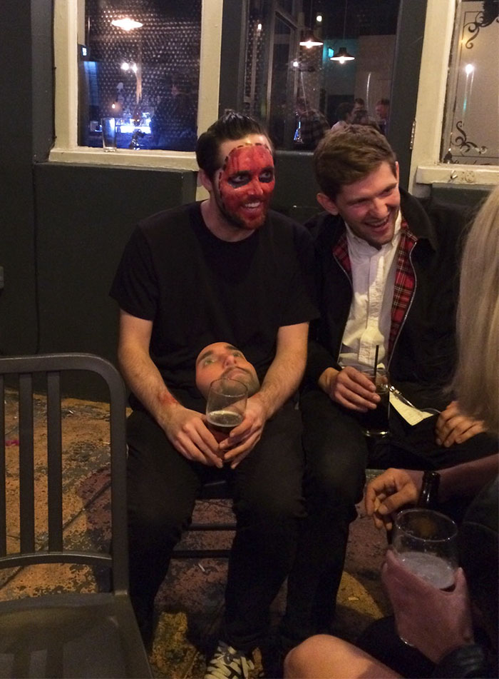 A Friend Nailed Halloween And 3D Printed His Own Face