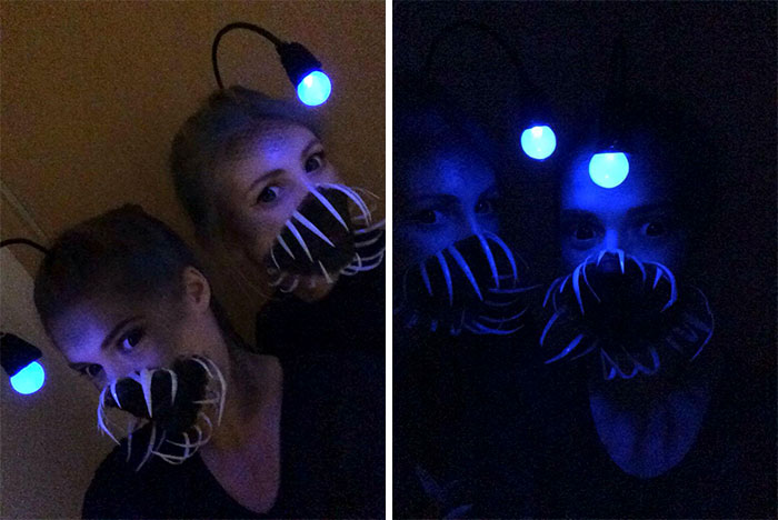 A Friend And I Decided To Go As Anglerfish For Halloween