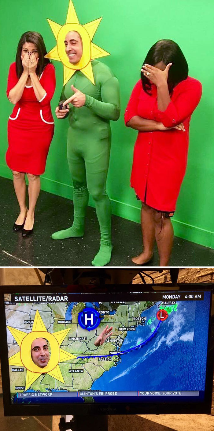 Our Local Weatherman's Costume Today