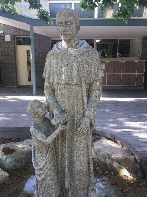 New Statue At A Catholic School