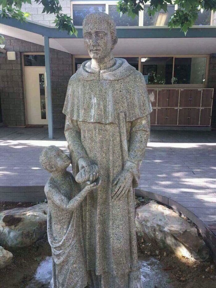 New Statue At A Catholic School