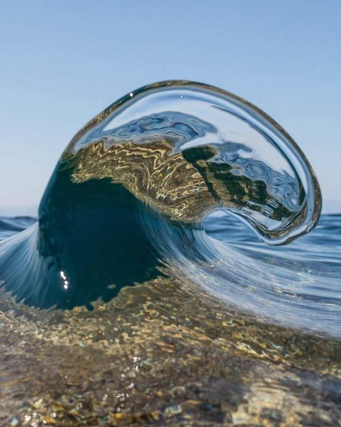 Perfectly Timed Photo Of A Wave