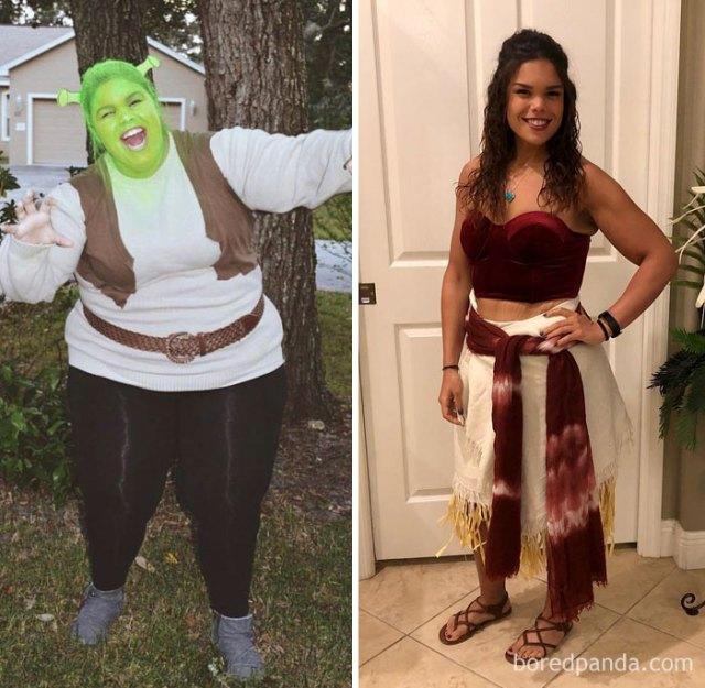 En 2015 fui Shrek en Halloween, ahorita he logrado ser Moana