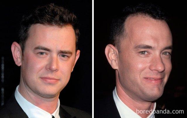 Colin Hanks y Tom Hanks a los treintaitantos