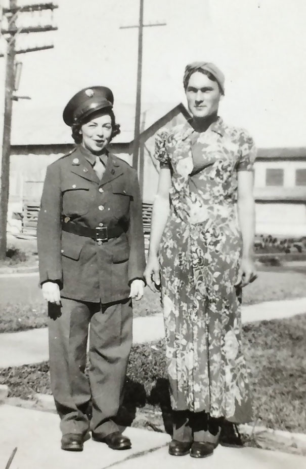 My Grandparents Wearing Each Other's Clothes, 1943