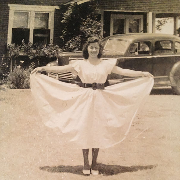 My Favorite Picture Of My Grandmother, 1942. She's Strong, Raised Six Children On Her Own After Leaving An Alcoholic Husband. Worked 7 Days A Week As A Cook In A Gas Station From 3 Am - 5 Pm. I Would Stay Every Weekend With Her And Sleep On The Floor Of The Gas Station Back Then. She's Amazing