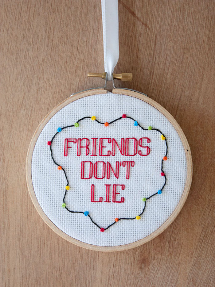 Friends Don't Lie Cross-Stitch