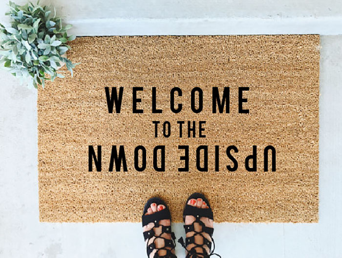 Welcome To The Upside Down Doormat