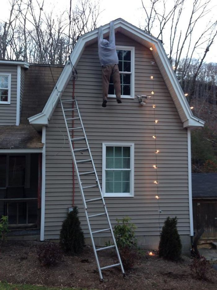 Neighbors' Outdoor Christmas Decorations.. Before The Cops Made Them Take It Down