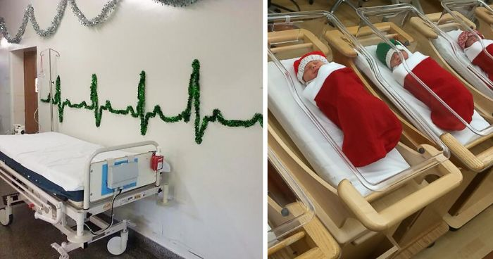 30 Hospital Christmas Decorations That Show Medical Staff