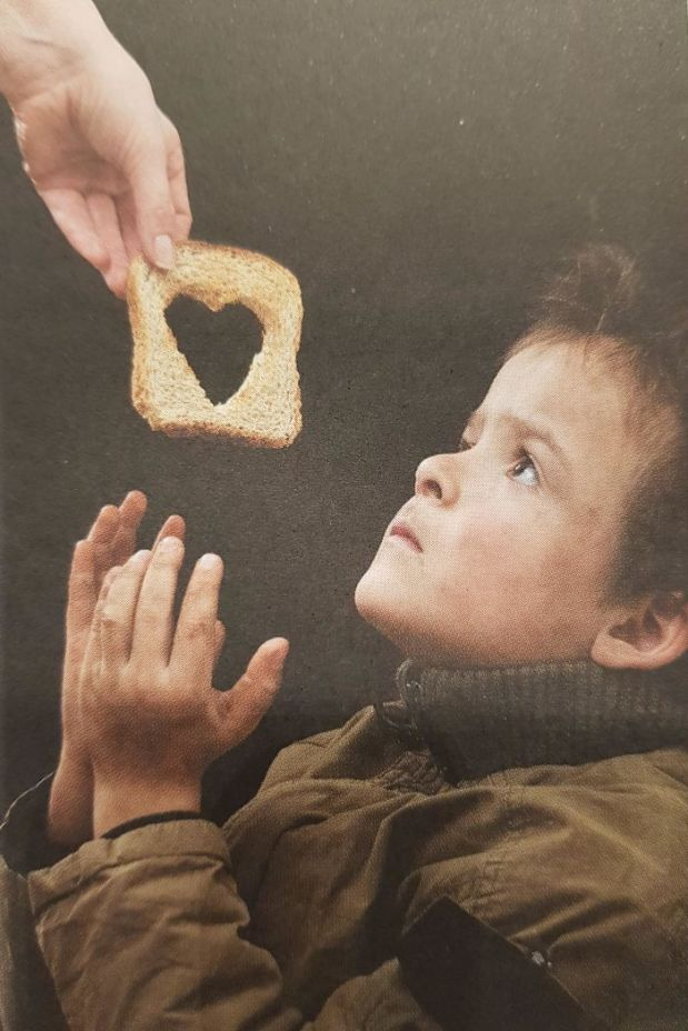 Let's Cut A Huge Hole In The Bread Before We Give It To The Poor, That'll Show People That We Care