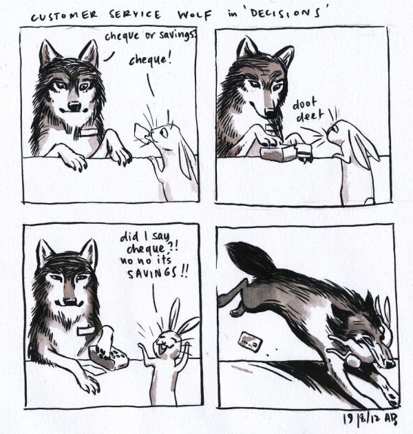 Customer Service Wolf In 'Decisions'