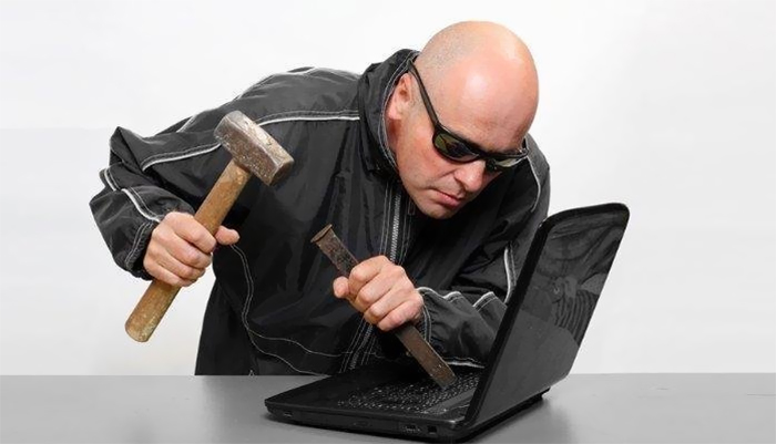 Bald Man Chisels His Way Into Your Privacy
