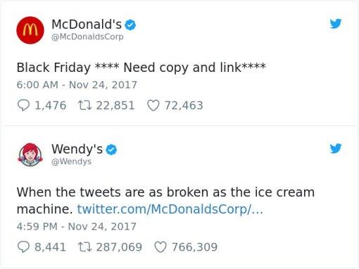 Wendy's brand voice in social media