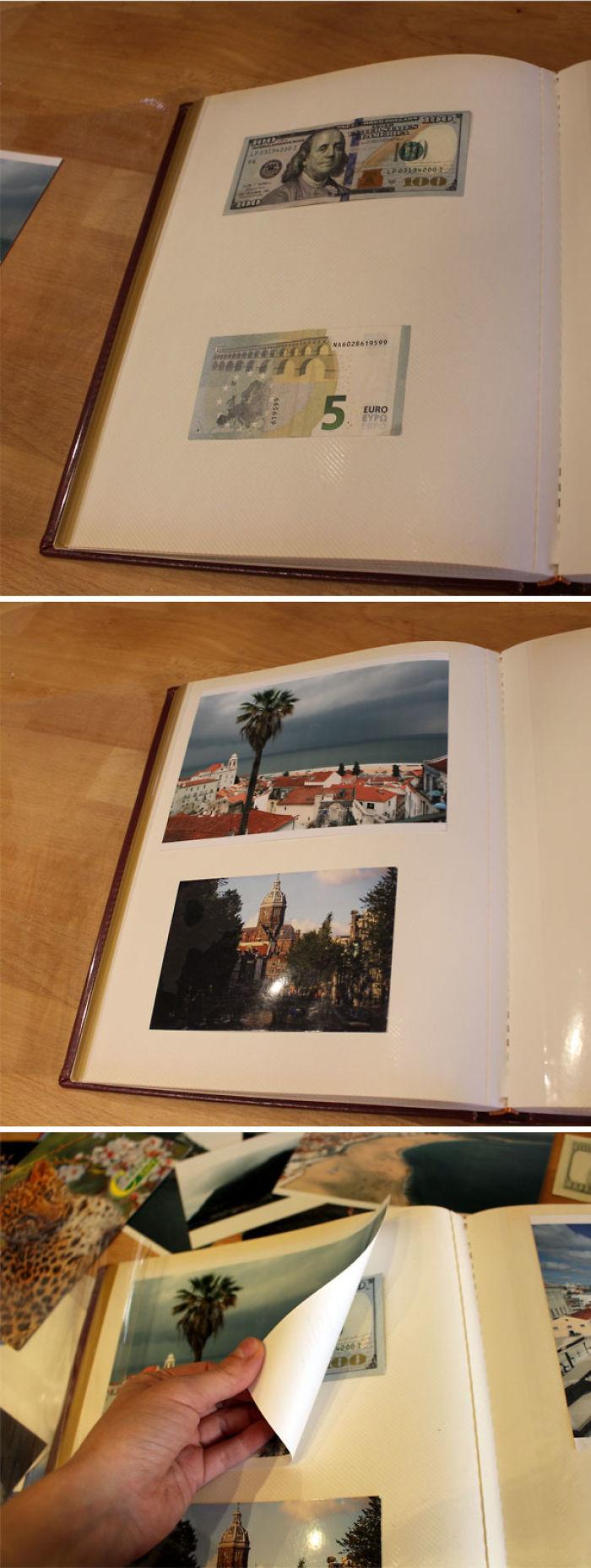 Cómo esconder cosas en los álbumes de fotos