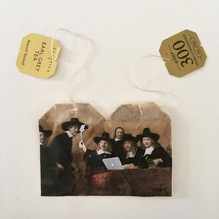 "Artist Makes Incredible Mini Paintings In Tea Bags And The Result Is A ""Big"" Work Of Art"