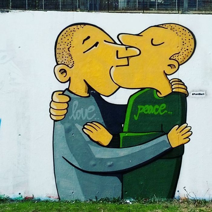 Swastika Transformation Street Art