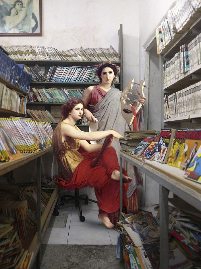People From Classic Paintings In Modern Day Life