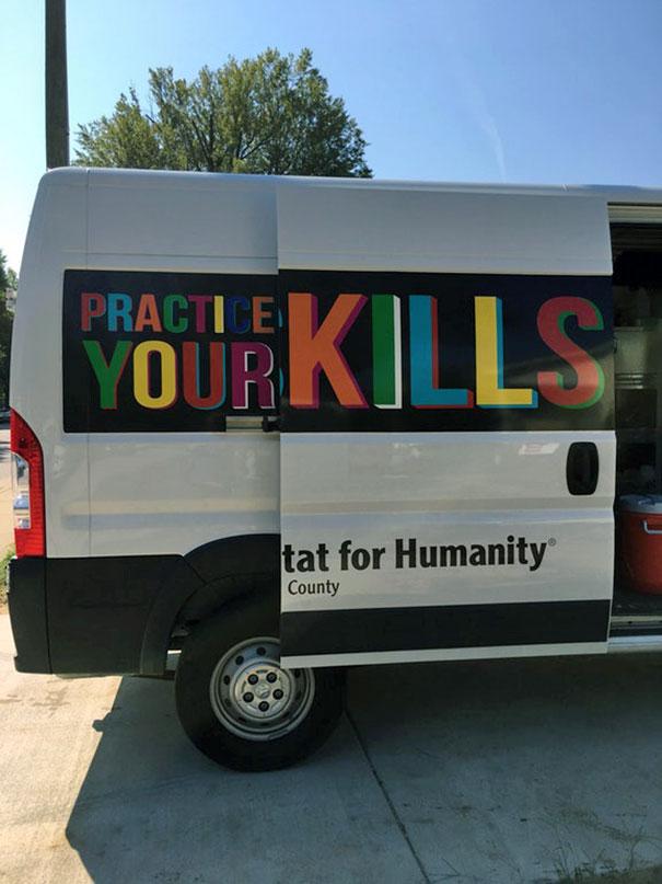 This Habitat For Humanity Van