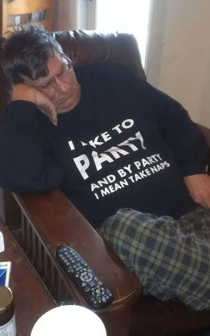My Father Really Takes This T-Shirt To Heart