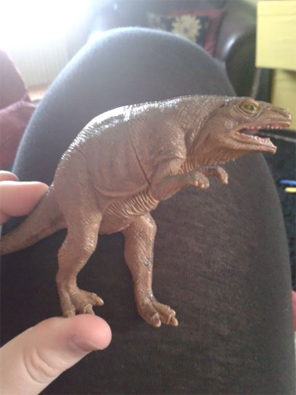 "My Nephew Has A Toy Dinosaur Which We Call ""Sneaky Dinosaur"" Because He Looks Rather F****** Sneaky"