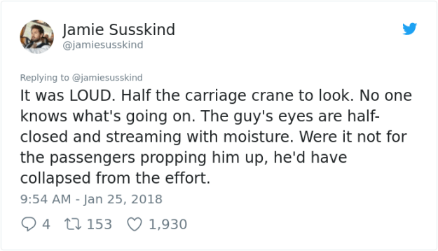 hero-commuter-sneeze-jamiesusskind-jamie-susskind-%E2%80%8F-16 Commuter Finds A New Hero On London Underground, And His Bravery Will Make You Die Of Laughter Design Random