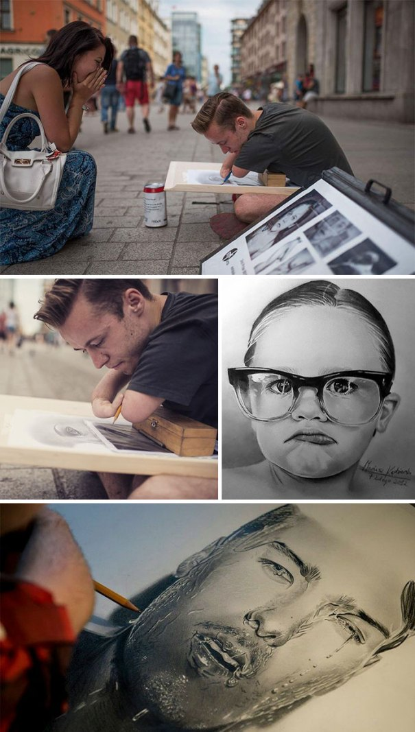 Mariusz Kedzierski Was Born Without Arms But Still Managed To Fulfill His Dream Of Drawing Realistic Paintings