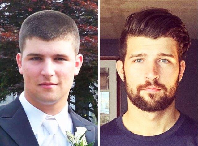 No parezco ni la misma persona. 17 y 22 años