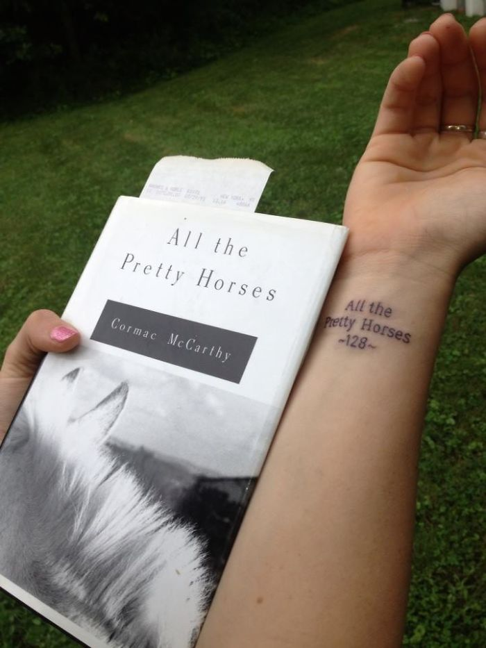 Tattoo Of The Book My Dad Was Reading When He Passed Away