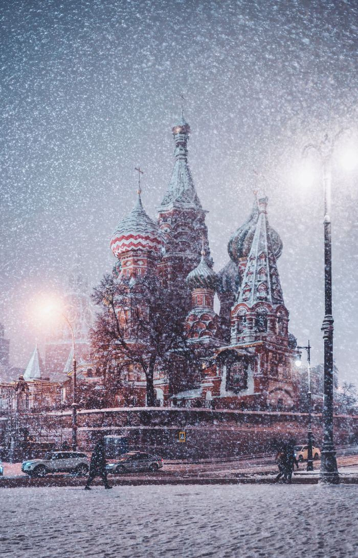 Moscow During A Snowfall Really Looks Magically
