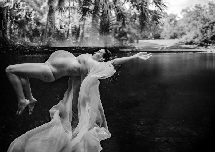 """Maternity Second Place. Melissa Benzel Of Benzel Photography – Serving Orlando, Florida – """"Staying Afloat"""""""