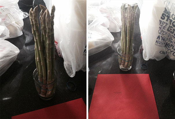 Dad Bought My Mum Asparagus For Valentines Day Thinkin' They Were Daffodils. Nope, I Am Done