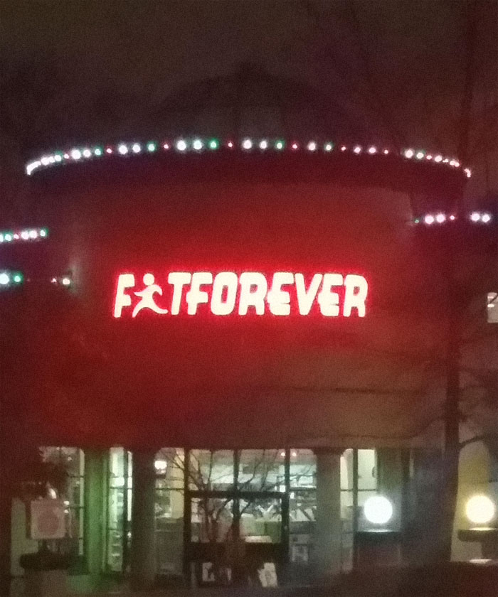 An Unfortunate Logo For A Fitness Center
