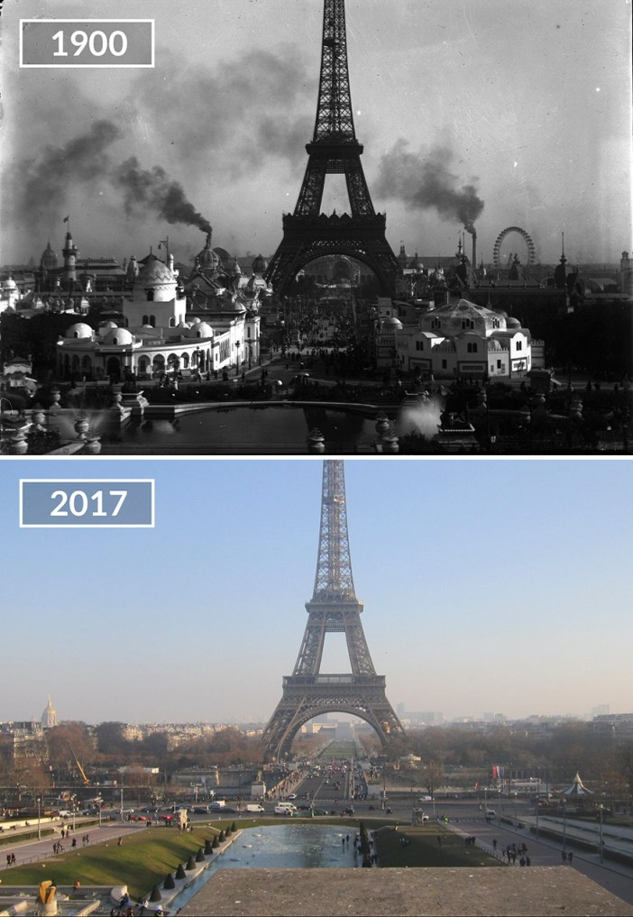 Eiffel Tower And Jardins Du Trocadéro
