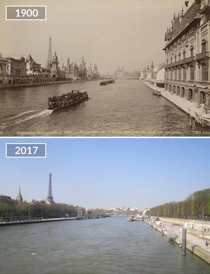 View On Seine From Pont Des Invalides