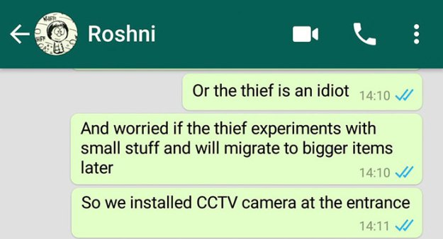 caught-doormat-robber-roshni-3 Guy Installs Secret Camera To Catch The Thief That Keeps Stealing His Things, Can't Believe His Eyes Design Random