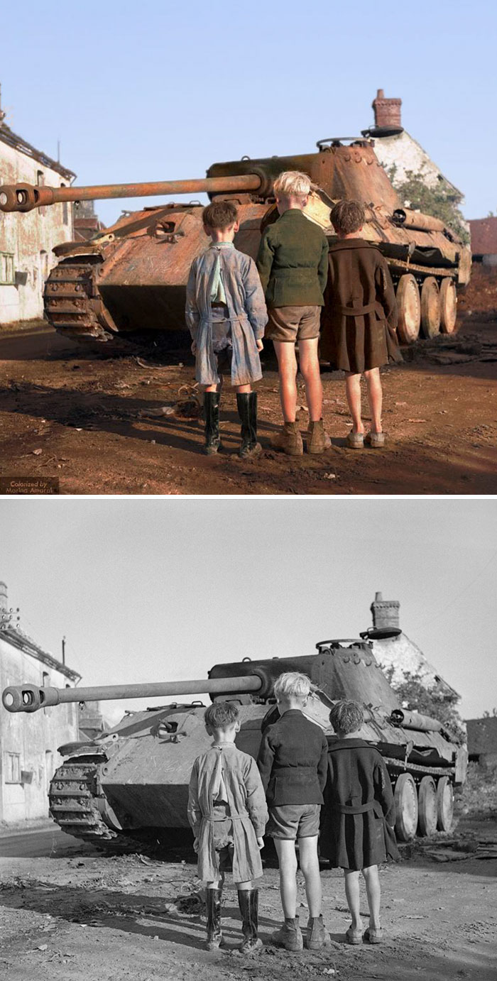 colorized-auschwitz-girl-czeslava-kwoka-black-white-historic-photos-marina-amaral-5aaa3fac5cb3a__700 The Last Photos Of A 14-Year-Old Polish Girl In Auschwitz Get Colorized, And They'll Break Your Heart Design Photography Random