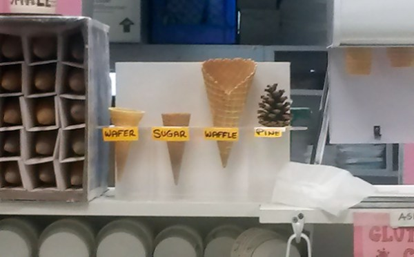 This Cone Display At My Local Ice Cream Shop