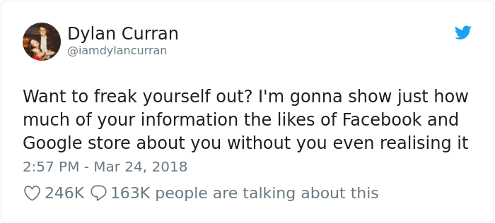 facebook-google-data-know-about-you-dylan-curran-1 The Internet Is In Shock After This Guy's Post Reveals How Much Facebook And Google Knows About You Design Random