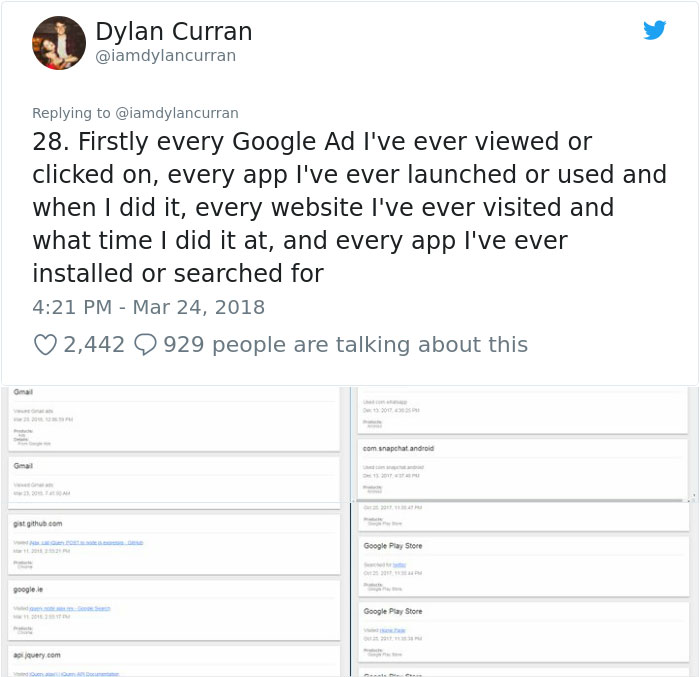 facebook-google-data-know-about-you-dylan-curran-25 The Internet Is In Shock After This Guy's Post Reveals How Much Facebook And Google Knows About You Design Random