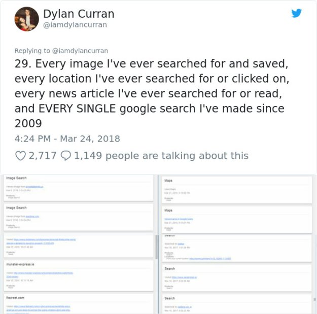 facebook-google-data-know-about-you-dylan-curran-26 The Internet Is In Shock After This Guy's Post Reveals How Much Facebook And Google Knows About You Design Random
