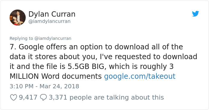 facebook-google-data-know-about-you-dylan-curran-8 The Internet Is In Shock After This Guy's Post Reveals How Much Facebook And Google Knows About You Design Random