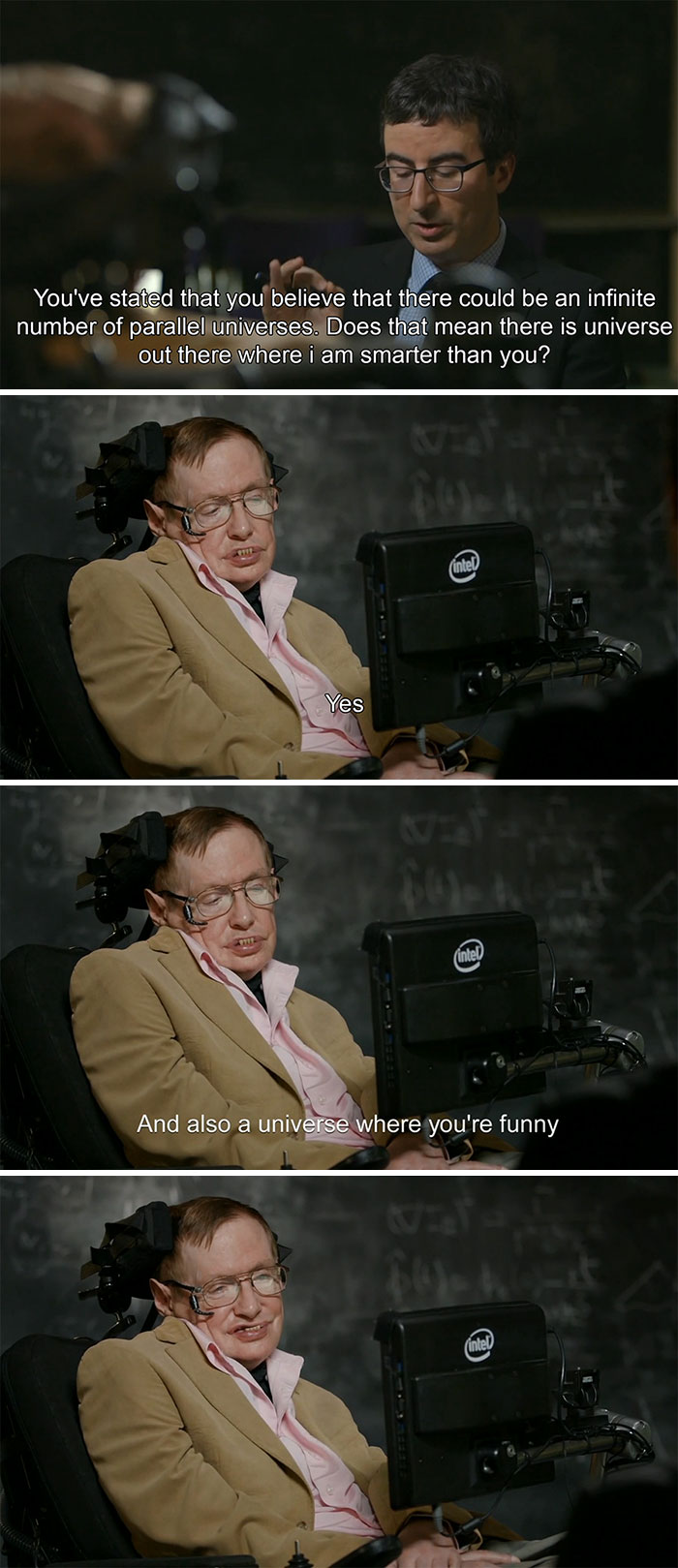 The Time Stephen Hawking Met John Olliver